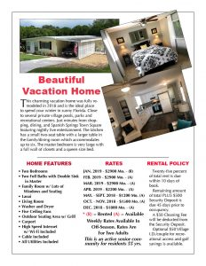 Beautiful Winter Rental The Villages Florida