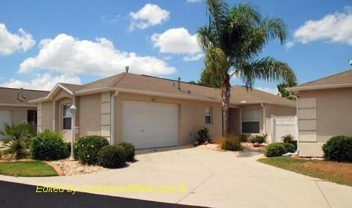 Furnished Courtyard Villa on Golf Course The Villages Florida