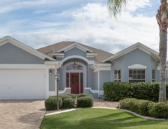 FSBO Caroline Designer Home with Oversized Homesite, Private backyard view The Villages Florida