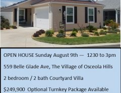 OPEN HOUSE TODAY  1230 to 3 pm The Villages Florida
