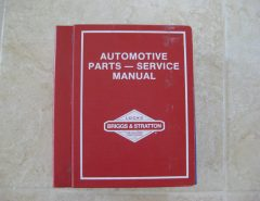 Briggs & Stratton Automotive Parts & Service Manual The Villages Florida